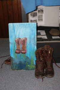 Boots Slate Painting