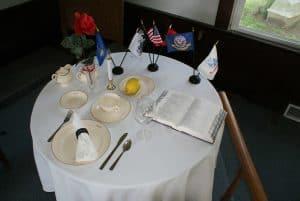 POW-MIA Table